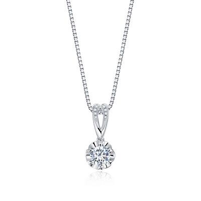 动心Ⅱ(吊坠) 18分白18K金钻石吊坠