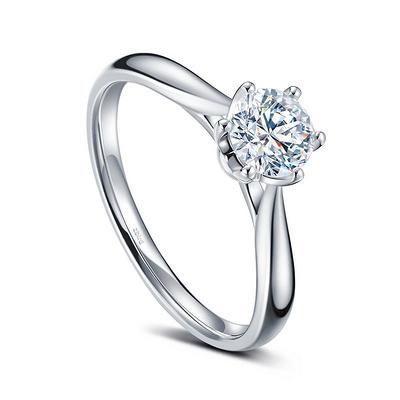 花簇 33分白18K金钻石女戒
