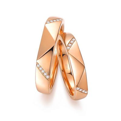 爱情魔方 白18K金钻石对戒