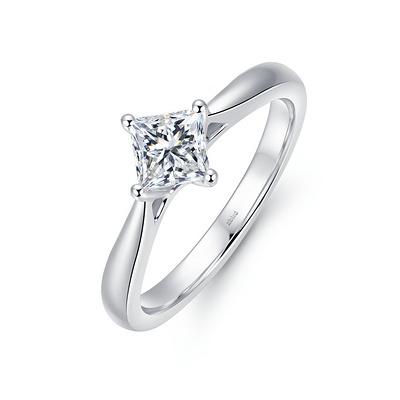 圣枝 30分白18K金钻石女戒