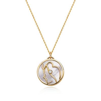 HOROSCOPE星座系列处女座钻石套链 1分黄18K金钻石套链