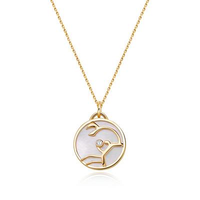 HOROSCOPE星座系列巨蟹座钻石套链 1分黄18K金钻石套链