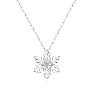 冬的纪念 19分白18K金钻石套链