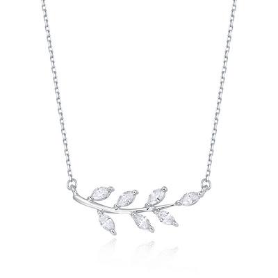 秋落(项链) 27分白18K金钻石套链