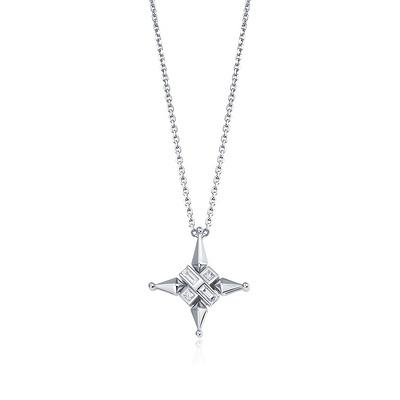 星丛(吊坠) 5分白18K金钻石吊坠